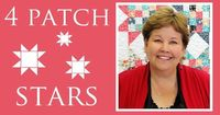 Four Patch Stars quilting tutorial by Jenny Doan. I love how she explains everything :)