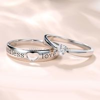 Custom Endless Love Matching Heart Wedding Couples Rings Set for 2 https://www.gullei.com/customized-engravable-endless-love-matching-heart-wedding-couple-ring.html