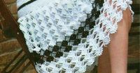 Crochet black and white skirt �™�LCS�™� with diagram