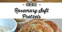 Soft, fresh and delicious homemade pretzels. They are topped with coarse salt and fresh rosemary. Trust me, they are worth every second you will put into them!