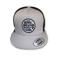 THIGHBRUSH® BEARD RIDING COMPANY - Trucker Snapback Hat - Silver and Black - Flat Bill $25.00