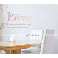 """Description: Size : 37"""" W x25.5"""" H Category : Quotes Wall Sticker Material : Vinly Wall Sticker Room :bedroom, living room, office Color:Red, Black Includes:Quotes"""