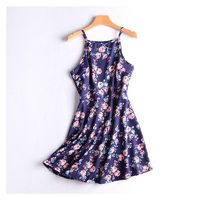 Printed Slimming High Waisted Summer Flexible Dress Vest Dress Basics Midi Dress - Discount Fashion in beenono