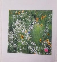 Fabric Panel, Flowers, 4x4 or 6x6 or 8x8, Poly Quilt Fabric by the Square, Crafts, Quilts, Quilters, Patchwork, Needle Point, Patchwork $7.95