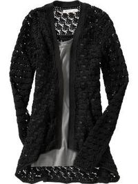 Women's Open-Front Crochet Cardigans! I love this one... ughhh if only I was rich so I could buy everything I want.. lol