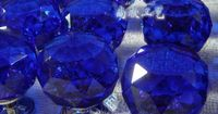 Cobalt Blue glass door knobs