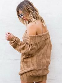 High-Necked Bottoming Shirt Long Sweater $48.00