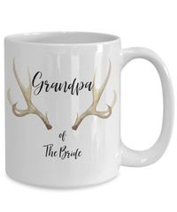 Grandpa of the bride white ceramic coffee mug |wedding gift | engagement gift | anniversary| newly weds| couple| bride|groom $17.45