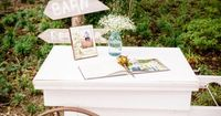 shabby chic wedding decor | rustic wedding decor | rustic wedding ideas | rustic wedding I have a really cool old tea cart we could use!