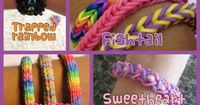 These are some fun and easy rainbow loom ideas. So simple, so cute! :)