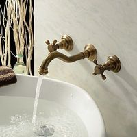 Bathroom Sink Taps in Antique Inspired Designed (Polished Brass Finish)