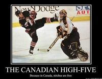 Canadian High-Five. #ohcanada