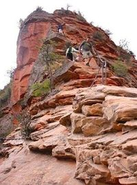 Zion National Park Angel's Landing. The last half mile was not a piece of cake..chains and steep inclines