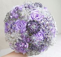 Brooch bouquet Lilac and silver wedding brooch by MagnoliaHandmade, $290.00; I totally love it! Want to duplicate DIY--
