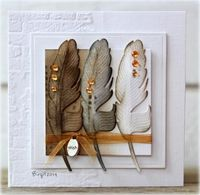 WT481 Feathers by Biggan - Cards and Paper Crafts at Splitcoaststampers