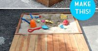 Full tutorial, build your own covered sandbox