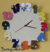 Cute clock. Don't know what they are saying but can get the jist. Something the kids could help with.