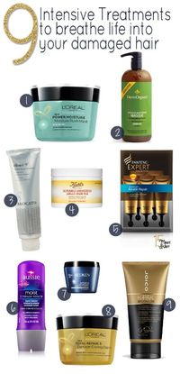 9 Best Intensive Hair Masks- I can attest for #1, came back from the lake with awful hair now it's great again