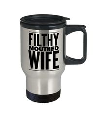 Filthy Mouthed Wife Stainless Travel Mug - Resist - Persist - Resistance $27.95