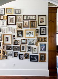 Don't try to match your picture frames. The look is more compelling if you don't.