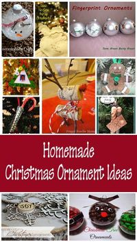 There's nothing like homemade Christmas ornaments to brighten up your holiday decor. Making your own ornaments not only saves money, it creates priceless memori
