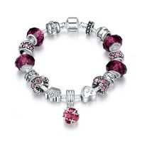 50 Shades of Ruby Red Pandora Inspired Bracelet $67.00 Free Shipping