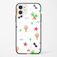 Travel-Live-Repeat (White) Glass Case Phone Cover from myxtur