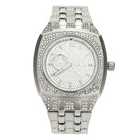 Men's platinum plated iced out hip hop Bling Watch w20 £32.95
