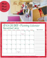 Free planning calendar for Elf on the Shelf. Great inspiration and tips!
