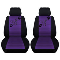 Two Front Seat Covers Fits a Toyota Corolla with a Chihuahua on the Insert of the Seat Covers Airbag Friendly $79.99