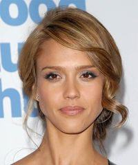 Opinions needed for wedding day hairstyle-LOTS of pictures from hair trial : wedding wedding hairstyle 8978 Jessica Alba