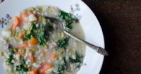 Scotch Broth, a humble potage of lamb, split peas, barley and vegetables, fills my family's bellies in winter time when the lingering cold and snow seem to draw