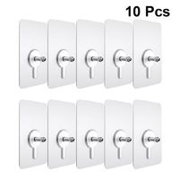 10 Pieces Punch-Free Non-Marking Screw Stickers