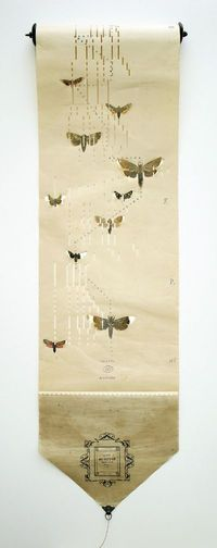 Butterflies on old music paper