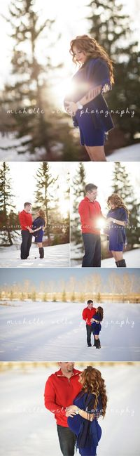 winter maternity photography www.michellewellsphotography.ca/theblog