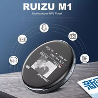 RUIZU M1 bluetooth 8GB MP3 Player Built-in Speaker FM Radio Recording E-Book Clock Audio Music Player