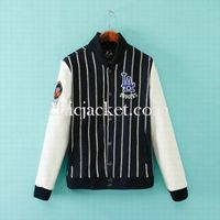 Letters LA Striped Couple Varsity Baseball Jacket