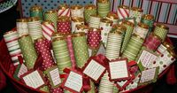 Wrapped Rolos! A fun treat for Christmas. A Christmas greeting with something for eating!