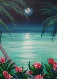 Paradise: Romance is in the air. Do you see a vacation in your future? Paint this and make it come true..2 hrs fun and easy step by step