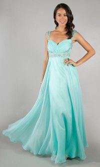 Aqua Dave And Johnny 8671 Long Sequins Prom Dress