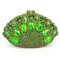 Ladies Metallic Peacock Evening Clutch Bag $309.00