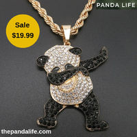 thepandalife.com is an online panda accessories store, offering exciting discount offers on the purchase of Stylish dancing panda necklace with rhinestones. It is a beautiful necklace with a 27-inch chain length and clasp. Call us: (888) 974-9878