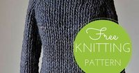 Transitions Sweater Free Knitting Pattern Ultra quick knitting! This bulky weight sweater features Wisdom Poems Uno yarn held doubled throughout for instant gra