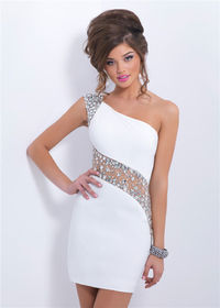 Prom Dress,White Prom Dress,Short Prom Dress