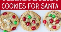 This Christmas M&M's Cookies are the perfect cookies for Santa! Crunchy and colorful Christmas M&M's in an easy to make buttery cookie dough, studded with milk