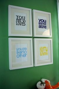 I think something like this would be perfect for our future Foster kids room
