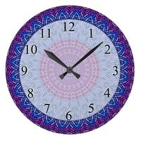 Stained Glass Look Mandala Large Clock