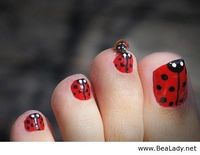 Lady Bug Toe Nails