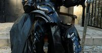 A fanatic comic book aficionado has created this incredible suit of armour- so he can dress up like a medieval Batman.