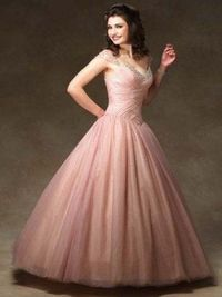 Off The Shoulder Lace Up V Neck Organza Ball Gowns